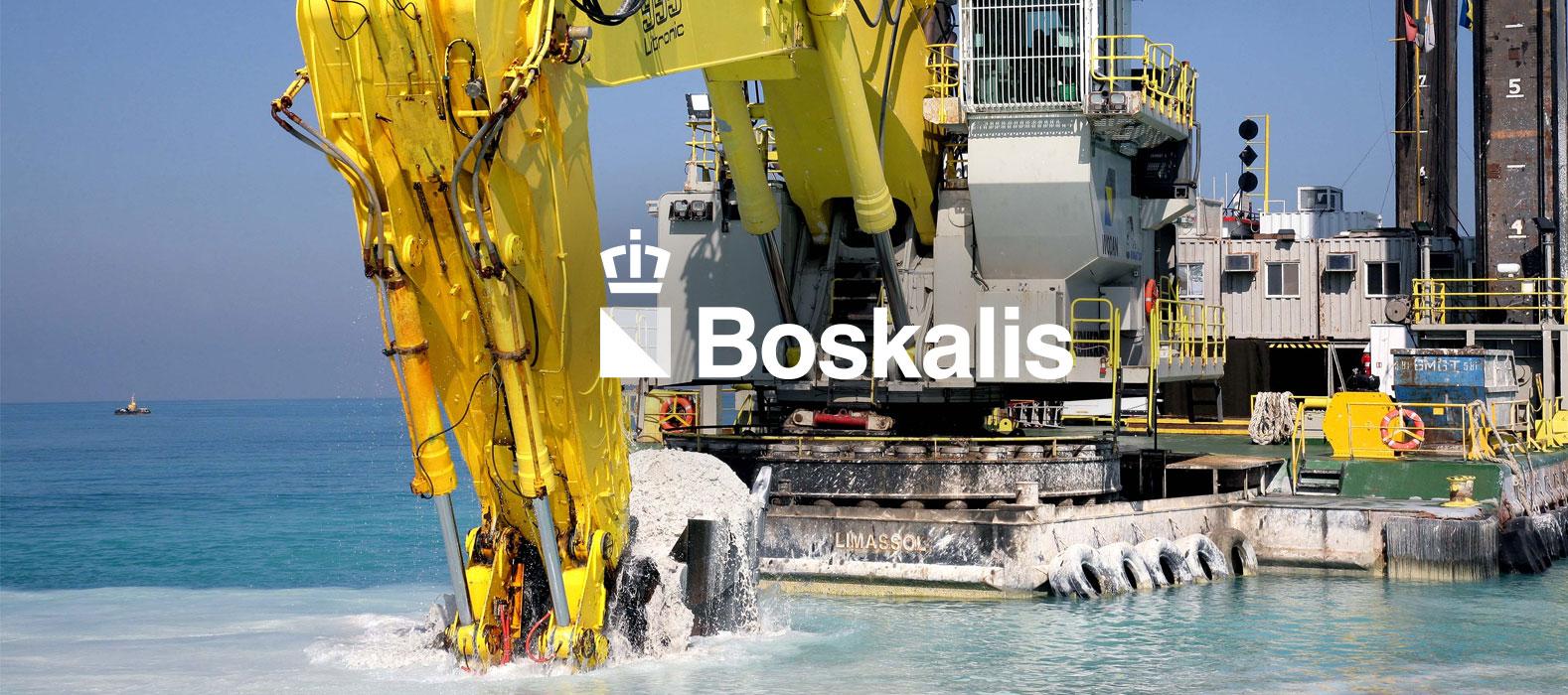 Een fraai plaatje bij Boskalis werken bij site