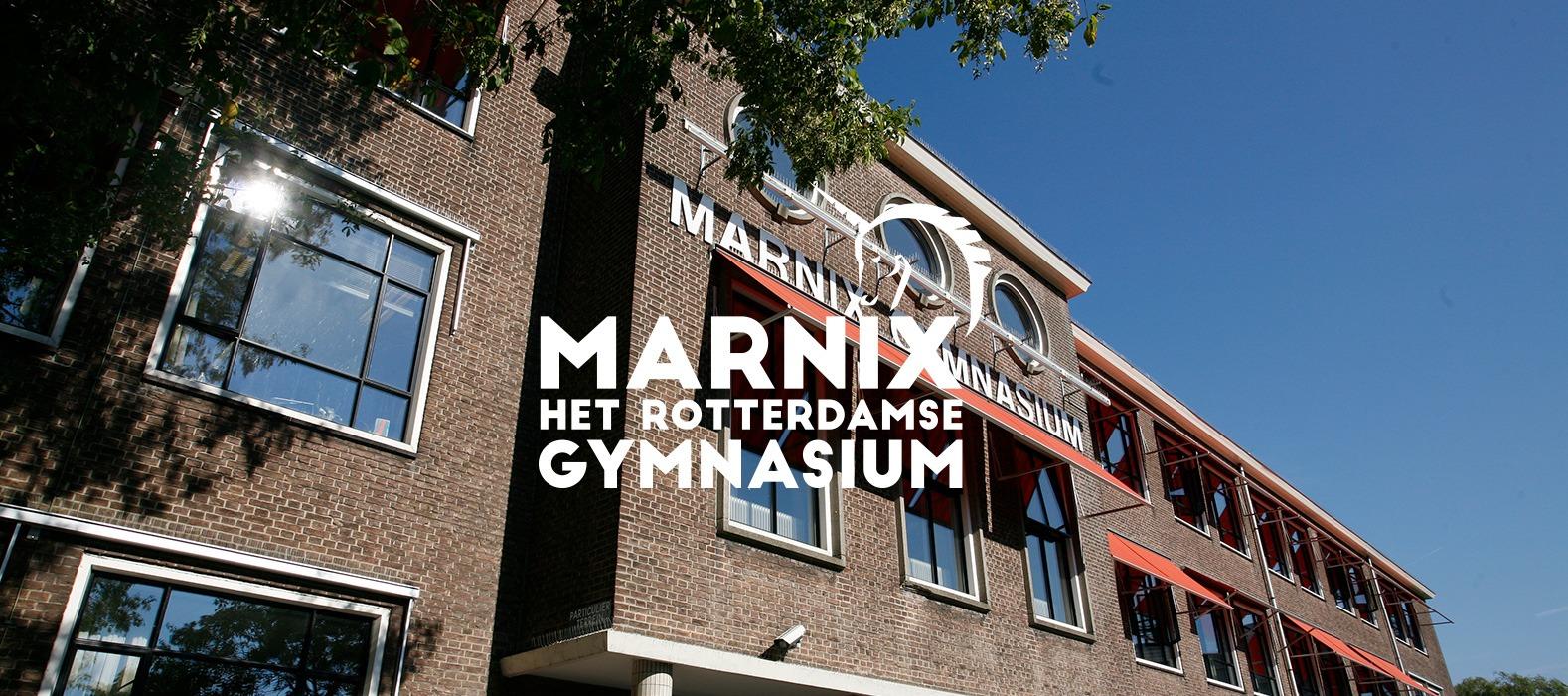 Een fraai plaatje bij Marnix Gymnasium